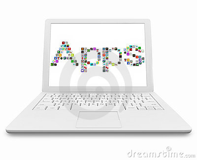 Apps Word on White Laptop Computer