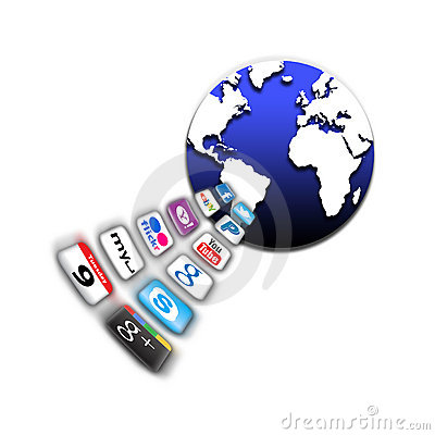 Apps on a world mobile network Editorial Image