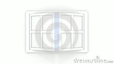 Apra le finestre royalty illustrazione gratis