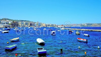Aprecie o recurso de Bugibba, Malta video estoque