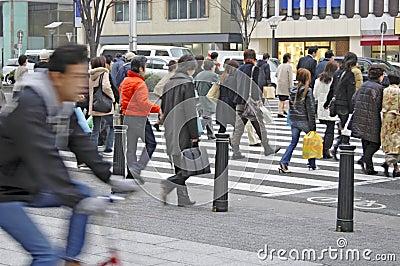 Apretado hacia el centro de la ciudad