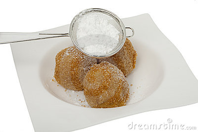 Apricot dumpling