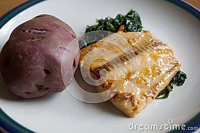 Apricot Glazed Salmon dish