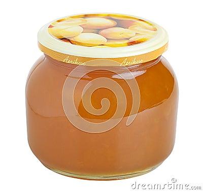 Apricot jam glass