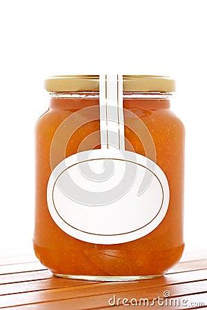 Apricot jam glass jar