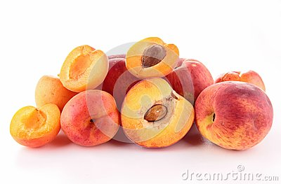 Apricot and peach