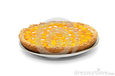 Apricots cheesecake with jelly