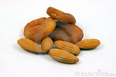 Apricots dried natural and almonds