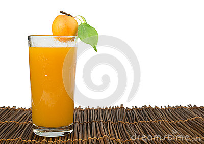 Apricots and glass juice.