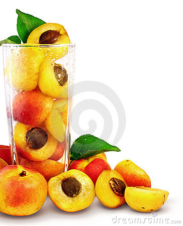 Free Apricots In The Glass Stock Image - 2661301