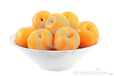 Apricots in plate