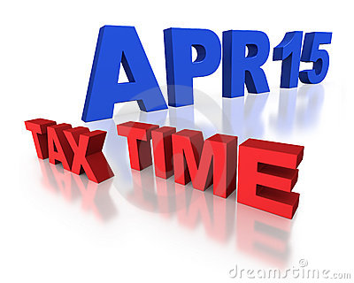 April 15 tax time reminder