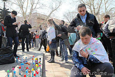 April Fools  Day in Odessa, Ukraine. Editorial Image
