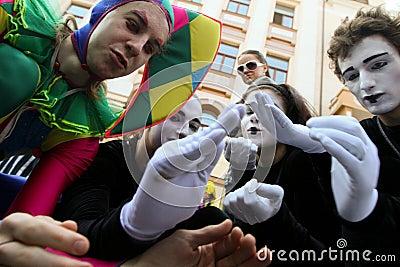 April Fools  Day in Odessa, Ukraine. Editorial Stock Photo