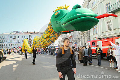 April Fools  Day in Odessa, Ukraine. Editorial Stock Image