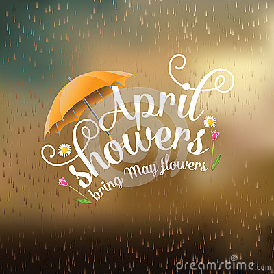 Free April Showers Bring May Flowers Design Royalty Free Stock Photo - 49874035