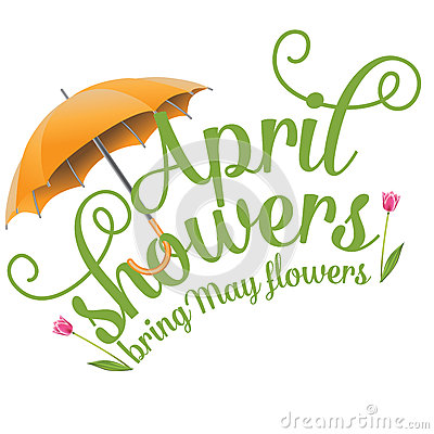 Free April Showers Bring May Flowers Design Stock Photo - 49885310
