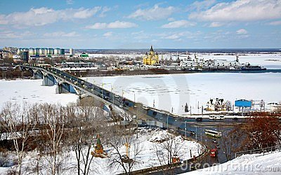 April view of Strelka Nizhny Novgorod