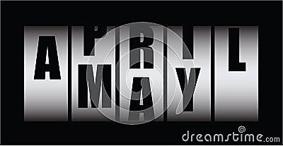 April x may
