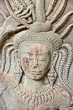 Apsara, Angkor Wat. Cambodia.