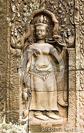 Apsara carving, Ta Som Temple, Cambodia