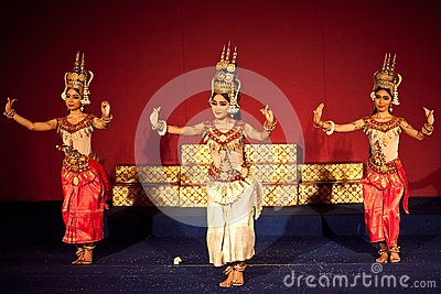 Apsara Dance, Cambodia Editorial Stock Photo