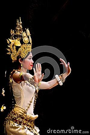 Free Apsara Dancer Stock Photography - 25236572