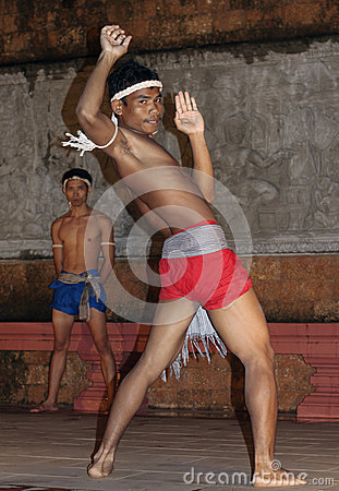 Apsara Dancers Kickboxing Editorial Stock Photo