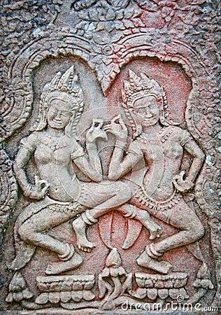 Free Apsara Dancers Of Angkor Wat Royalty Free Stock Images - 20864889