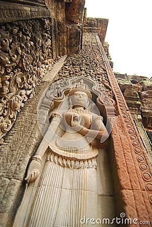 Apsara sculpture, Siem Reap, Cambodia