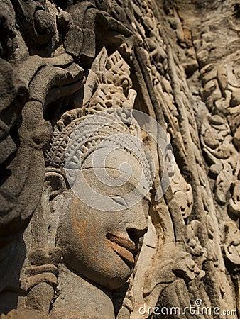 Apsara smile in Thommanon, Siem Reap