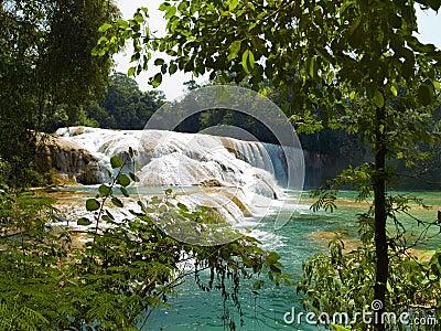 Aqua Azul waterfall in Mexico