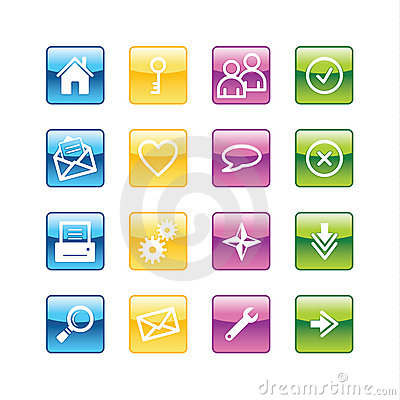 Aqua basic web icons