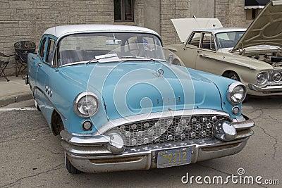 1955 Aqua Blue Buick Special Car Editorial Image