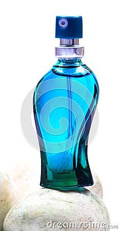 Free Aqua Blue Perfume Bottle Stock Images - 17896944