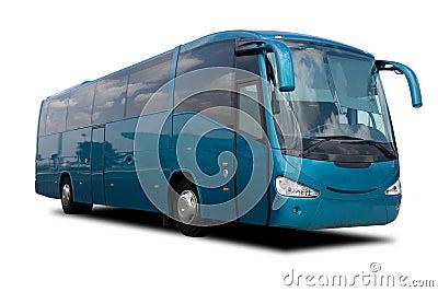 Aqua Blue Tour Bus
