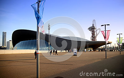 Aqua centre of London s Olympic village Editorial Stock Photo