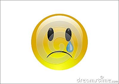Aqua Emoticons - Cry