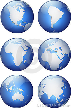 Free Aqua Globes Stock Image - 1621611