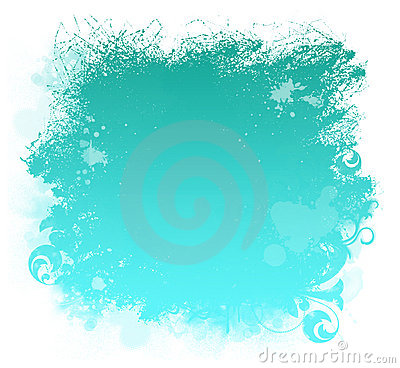 Aqua Grunge Paint Smear Background