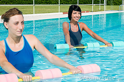 Aqua gym fitness exercise