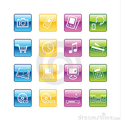 Aqua  home electronics icons