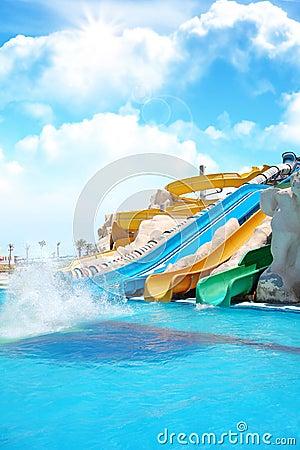 Aqua park sliders