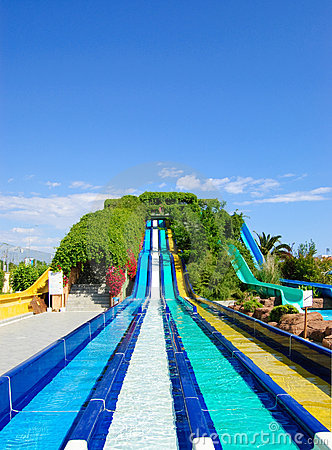 Aqua park water attractions