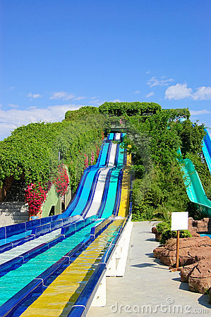 Free Aqua Park Water Attractions Stock Photo - 9697340