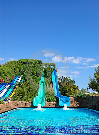 Aqua park water attractions, Antalya