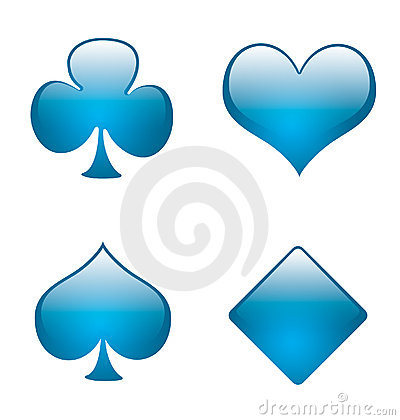 Free Aqua Playing Card Symbols 01 Royalty Free Stock Images - 854619