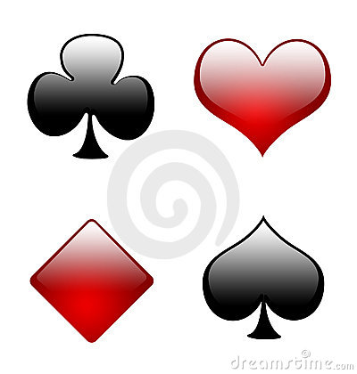 Free Aqua Playing Card Symbols 02 Royalty Free Stock Photo - 854625