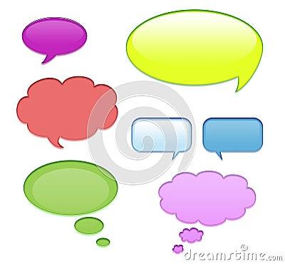 Free Aqua Speech Bubbles Royalty Free Stock Photos - 16597348