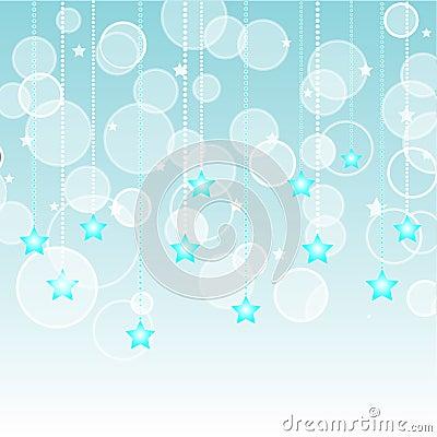 Aqua Stars Background
